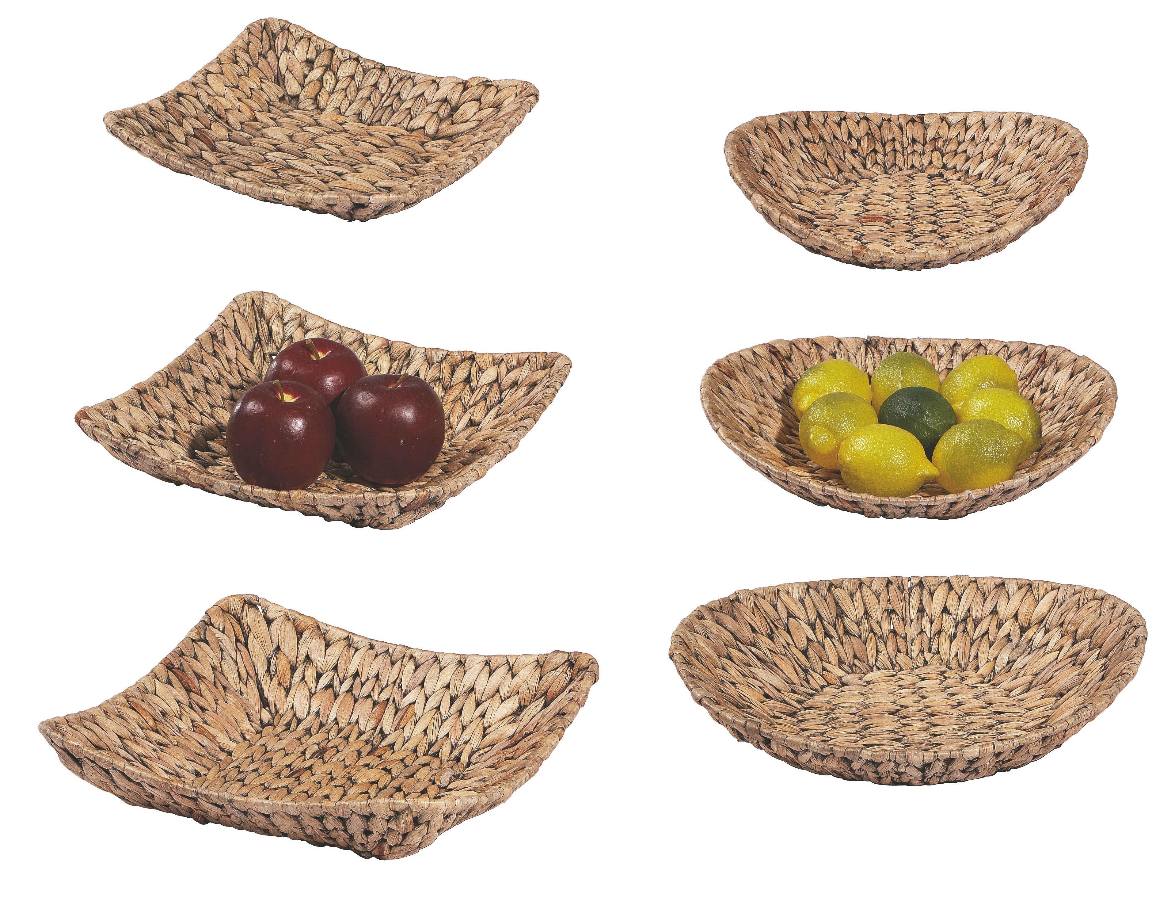Zdjela Dekorativna Emy - Set 3-teilig - crna/natur boje, Konvencionalno, metal/daljnji prirodni materijali - OMBRA