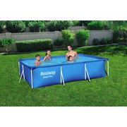 Schwimmbecken Steel Pro Pool - Blau, MODERN, Kunststoff/Metall (300/201/66cm) - Bestway