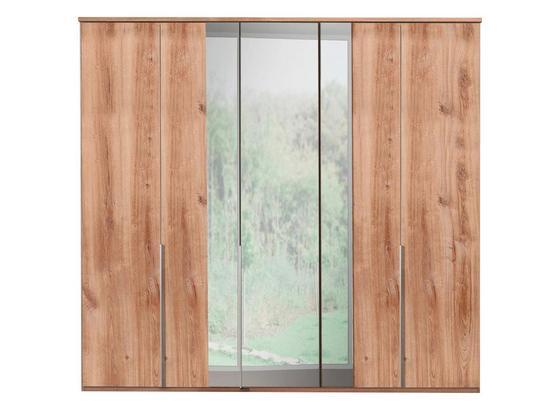 Šatníková Skriňa London - farby dubu, Moderný, kompozitné drevo (225/210/58cm)