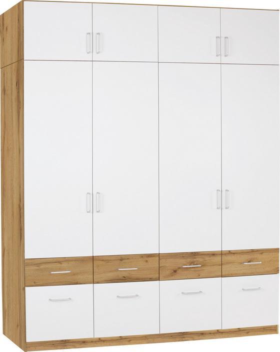 Aufsatzschrank Aalen Extra, 181cm - Eichefarben/Weiß, KONVENTIONELL, Holzwerkstoff (181/39/54cm)