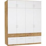 Aufsatzschrank Aalen Extra B:181cm Weiß/wotan Eiche Dekor - Eichefarben/Weiß, KONVENTIONELL, Holzwerkstoff (181/39/54cm)