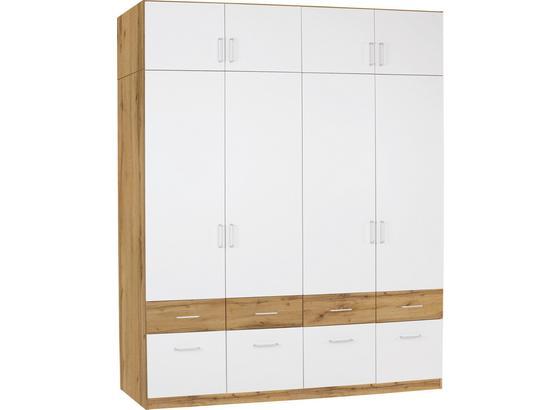 Nadstavec Na Skriňu Aalen-extra - farby dubu/biela, Konvenčný, kompozitné drevo (181/39cm)