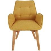 Stuhl Bettina - Eichefarben/Gelb, MODERN, Holz/Textil (60/90/67cm) - Ombra