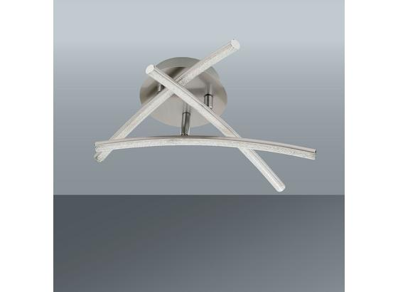 Led Stropná Lampa Hongkong - farby niklu, Konvenčný, kov (38/10cm) - Modern Living