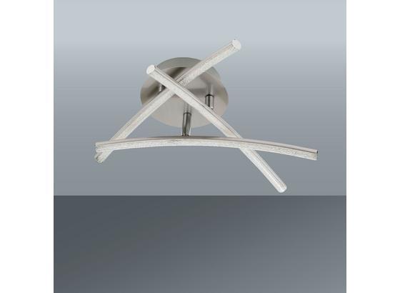 Led Stropná Lampa Hongkong - niklová, Konvenčný, kov (38/10cm) - Modern Living