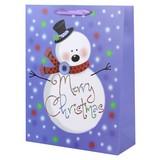 Geschenktasche Frosty Men M - Rot/Weiß, Basics, Karton (26/32/12cm)