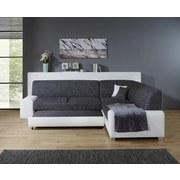 Wohnlandschaft In L-Form Miami 260x210 cm - Alufarben/Weiß, Basics, Holz/Kunststoff (260/210cm) - Ombra