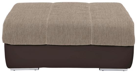 Hocker Multi - Sandfarben/Chromfarben, MODERN, Textil (100/43/80cm)