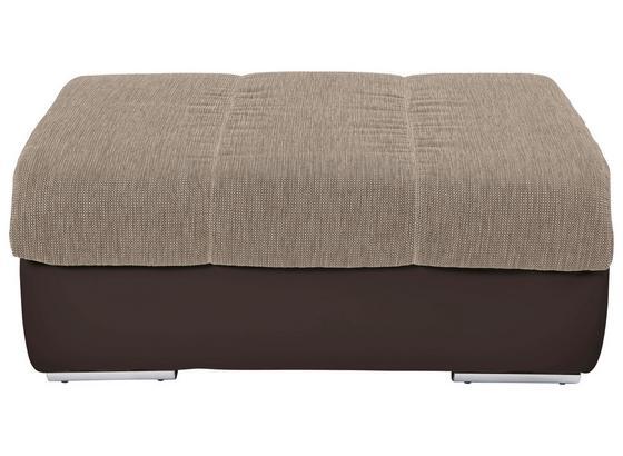 Taburetka Lounge Multi - hnedá/piesková, Moderný, textil (100/43/80cm)