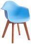 Kinderstuhl Bambino Style Hellblau - Buchefarben/Hellblau, MODERN, Holz/Kunststoff (42/57,5/30cm) - Ombra