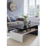 Couchtisch Murphy L: ca. 90 cm - Schwarz/Weiß, MODERN, Holzwerkstoff (90/60/43cm) - MID.YOU
