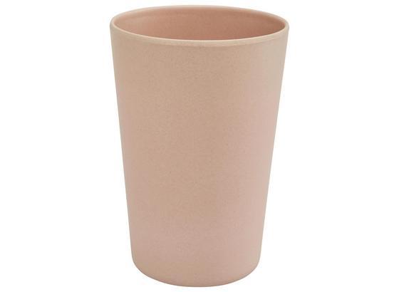 Pohár Anabel - růžová, Natur, přírodní materiály/umělá hmota (9/13cm) - Zandiara