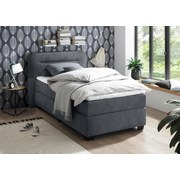 Boxspringbett mit Topper 120x200 Maine - Anthrazit/Schwarz, KONVENTIONELL, Textil (120/200cm) - MID.YOU