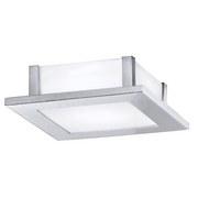 Deckenleuchte Auriga - Chromfarben/Weiß, MODERN, Glas/Metall (21/21/6,5cm)