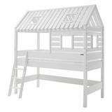 Spielbett Kim 90x200cm Buche Massiv - Weiß, Design, Holz (90/200cm) - MID.YOU