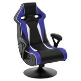 Gamingstuhl Specter II B: 65 cm - Blau/Schwarz, Design, Kunststoff/Textil (65/113/76cm) - Carryhome