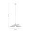 Závesná Lampa Angelo - biela, Moderný, kov (48/113cm) - Modern Living