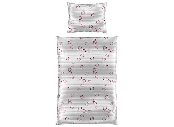 Bettwäsche Elenor - Grau, MODERN, Textil - Luca Bessoni