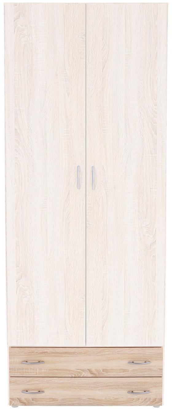 Schublade Base 2 - Sonoma Eiche, KONVENTIONELL, Holzwerkstoff (80/33/52cm)