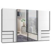 Schwebetürenschrank Level 36a B: 350cm Weiß - Weiß, Basics, Holzwerkstoff (350/216/65cm)