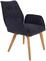Stuhl Bettina - Blau/Eichefarben, MODERN, Holz/Textil (60/90/67cm) - Ombra