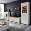 Vitrína Leonardo - farby dubu/biela, Moderný, kompozitné drevo/sklo (70/201/40cm) - Modern Living