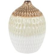 Dekovase Cadel - Braun/Weiß, Basics, Keramik (16,5/25cm) - Luca Bessoni