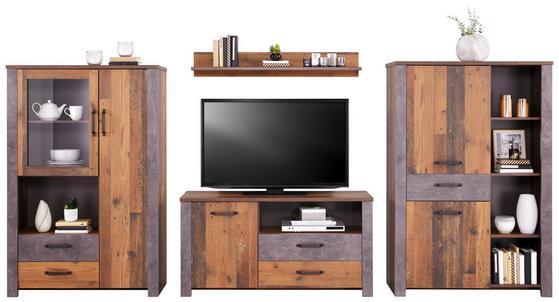 Wohnwand mit Vitrinen und TV-Möbel
