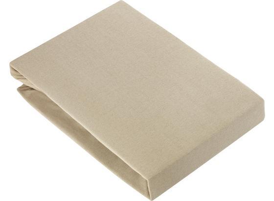 Prostěradlo Napínací Basic - šedá, textil (150/200cm) - Mömax modern living