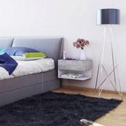 Nachtkästchen Betonoptik/Weiß H: 29,5 cm Hängend Dormal - Weiß/Grau, Design, Holzwerkstoff (46,3/29,5/30cm) - MID.YOU