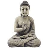 Buddha Akasch - Creme/Grau, KONVENTIONELL, Stein (35/22/51cm) - Ombra