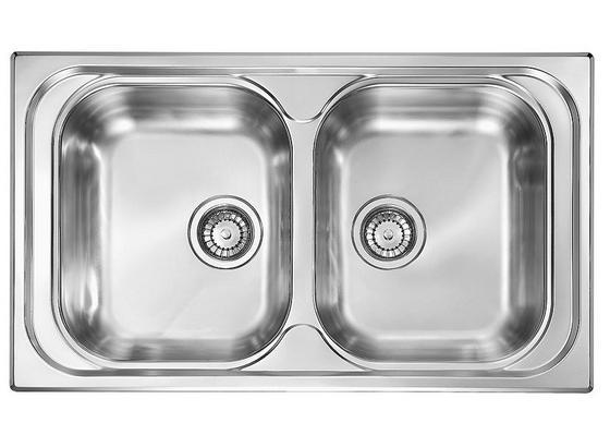 Spüle 100244 - Edelstahlfarben, MODERN, Metall (78/43,5cm) - HKT