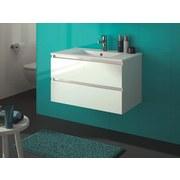 Waschtischkombi Allibert Alma B: 80 cm Weiß - Weiß, MODERN, Keramik/Holzwerkstoff (80cm) - MID.YOU