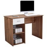 Schreibtisch mit Stauraum B 110cm H 75cm Kubek 2, Eiche - Dunkelbraun, MODERN, Holzwerkstoff (110/75/50cm)