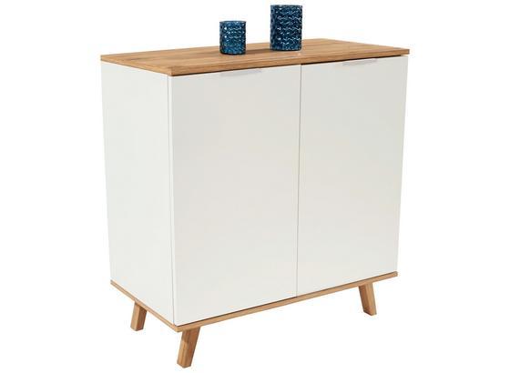 Komoda Turin 2 - farby dubu/biela, Moderný, kompozitné drevo (90/87/40cm)