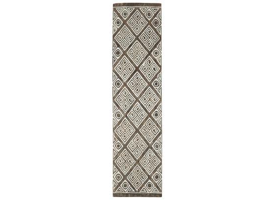 Nástenná Dekorácia Gede - prírodné farby/biela, drevo (25/100/3cm) - Zandiara