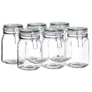 Einmachglas-Set ca. 1050ml - Transparent, Basics, Glas (1050ml)