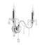 Nástenná Lampa Isabella 36/33cm, 2x40 Watt - chrómová/číre, Romantický / Vidiecky, kov/plast (36/33cm) - Mömax modern living