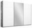 Schwebetürenschrank Belluno 271 cm Stone/Weiß/sp. - Weiß/Grau, MODERN, Holzwerkstoff (271/210/62cm)
