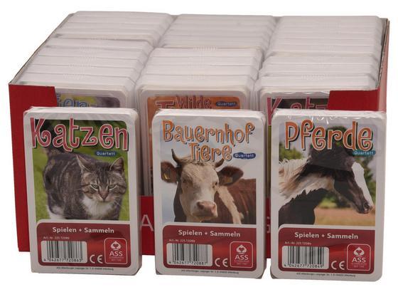 Kartenspiel Quartett Tiere - Multicolor, Basics, Papier (20/16,5/10cm)