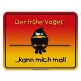 Dekoschild Blechschild Früher Vogel - Multicolor, Basics, Metall (17/22cm)