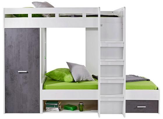Vysoké Spanie Space + Maxi - biela/tmavosivá, Konvenčný, kompozitné drevo (269/180/115cm)