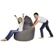 Sitzsack Buzz Soft Grau - Grau, MODERN, Textil (85/120/85cm) - Ombra
