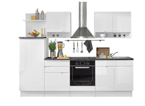 Küchenblock Welcome Spice 270cm Weiß - Schwarz/Weiß, MODERN, Holzwerkstoff (270/204/60cm)