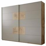 Schwebetürenschrank 280cm Grau/Eiche Dekor - Eichefarben/Grau, KONVENTIONELL, Holzwerkstoff (280/230/60cm) - Carryhome