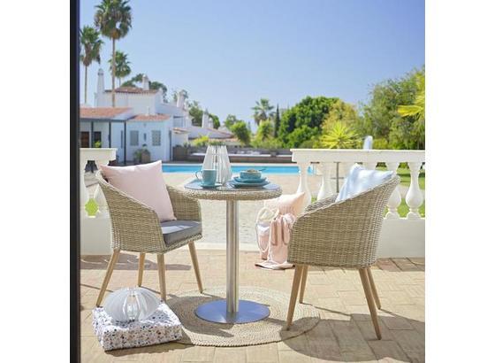 Balkónová Súprava San Remo - sivá/béžová, Moderný, kov/textil - Mömax modern living