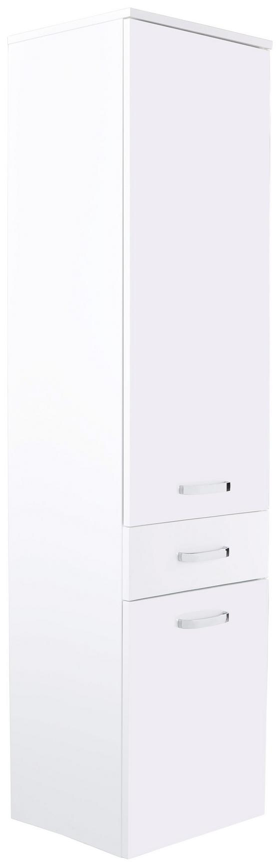 Hochschrank Tress I - Platinfarben/Chromfarben, KONVENTIONELL, Holzwerkstoff (40/163/33,5cm)