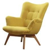 Kreslo Safin - žltá, Moderný, textil (89/97/80cm)
