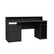 Gaming Tisch Tezaur B: 160 cm - Schwarz, Basics, Holzwerkstoff/Kunststoff (160/91/72cm) - MID.YOU