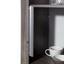 Vitrína Frame - biela/farby hľuzovkového dubu, Konvenčný, kompozitné drevo/sklo (56/200/42cm)